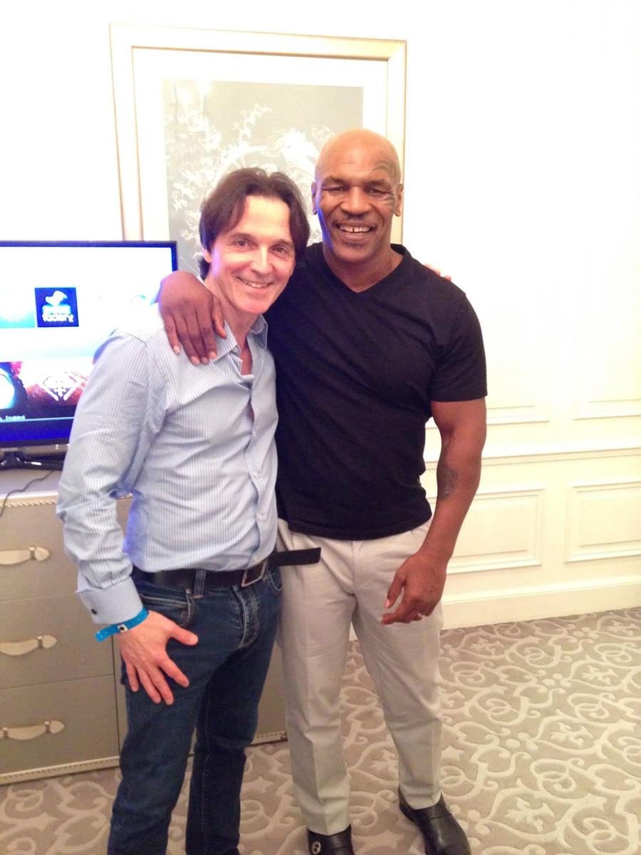 Philippe Argillier et Mike Tyson